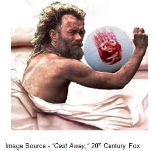 """We might just make it. Did that thought ever cross your brain? Well, regardless, I would rather take my chance out there on the ocean than to stay here and die on this island, spending the rest of my life talking..."" – Chuck Noland, ""Cast Away,"" 20th Century Fox (2000)"