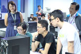 Students at Temasek Polytechnic in Singapore learn the basics of 3D printing using Stratasys' education curriculum. Photo: Temasek Polytechnic