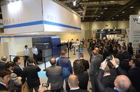 KM-1 presentation as one of the top attractions on the Konica Minolta Ipex booth