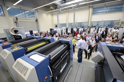 Simultaneous printing and makeready: even the experts couldn't keep up with the pace of KBA's Flying JobChange
