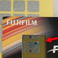 Look at the ForgeGuard label through a special viewer to reveal the hidden full-color image.