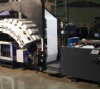 The first colour HP Inkjet Web Press as it is installed at O'Neil Data Systems in Los Angeles.