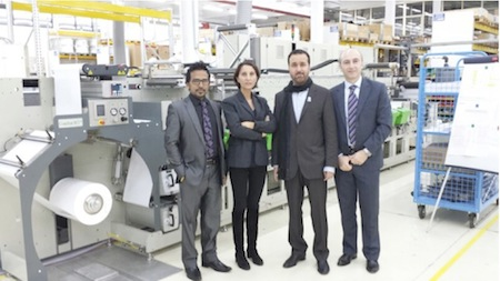 In the picture from left : Mr. G. Jayaprakash Alhashemi Sales Director, Cristina Toffolo GIDUE VP Marketing, Mr. Mohammad Alhashemi Managing Director, Maurizio Trecate GIDUE VP Sales