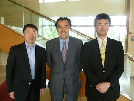 From left: Hide Tsukada, Manager of Imaging Media Divison., Shimpei Yamada, General Manager of Imaging Media Division, and Shinsuke Imanishi, Group Leader of Imaging Media Division.