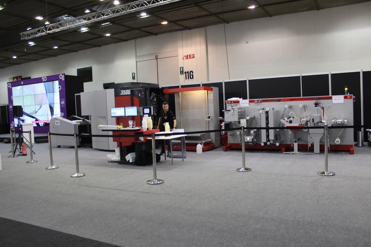Xeikon's 3500 at the demo area where many applications were shown